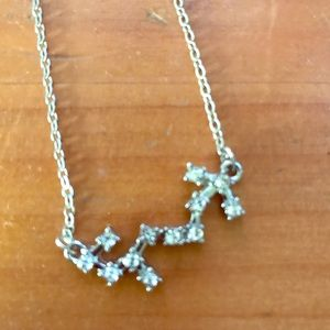 Scorpio constellation rhinestone necklace